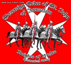 صورة قديمة لفرسان مالطا. تظهر فيها الخيول والفرسان المدرعة في طريقها نحو الشرق