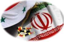 علم إيران وبشار والأفعى