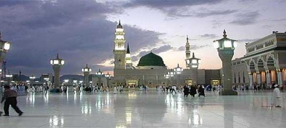 المسجد النبوي والقبة الخضراء
