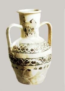 ابريق فخاري مصقول للاستعمال اليومي في قرطبة الاسلامية. من اثار الزهراء.