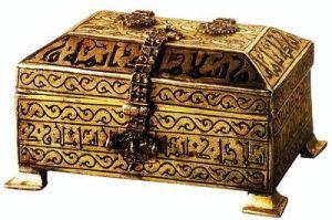 صندوق للحلي من ايام قرطبة والزهراء في القرن الرابع الهجري العاشر الميلادي.